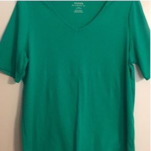 Chico's size 2  neck solid T shirt